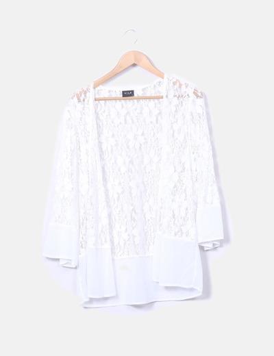 Kimono encaje blanco VILA
