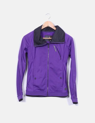 Sweat-shirt violet à glissière G-Star Raw