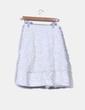 Conjunto de falda y torera blanca texturizada Veintitantos