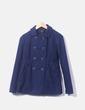 Chaqueta azul de paño con doble botonadura Suiteblanco