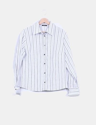 Camisa blanca con rayas Elena Miró