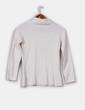 Jersey de lana en crudo botonadura en cuello Adolfo Dominguez