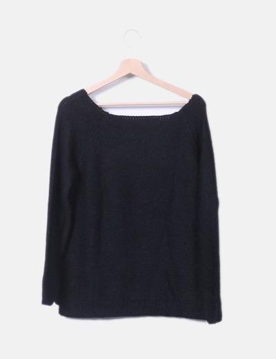 Jersey negro con pedrería