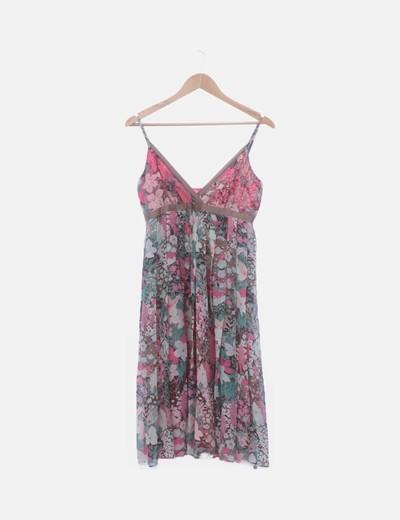 Vestido gasa floral