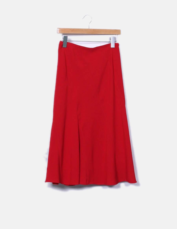 Concept con falda vuelo baratas Maxi online Precchio Faldas roja Colors  UYxwwp ... 84b20d57e0eb