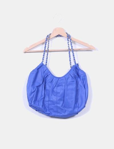 Bolso polipiel azul klein Emme Trenta