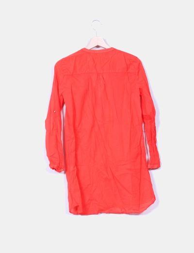 Blusa roja semi transparente