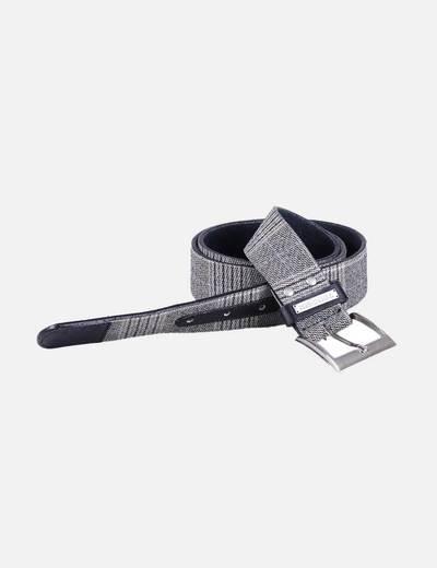 Cinturón de cuero combinado Ezekiel