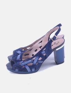5689c4fb5f8 Zapatos azul marino lentejuelas Pitillos