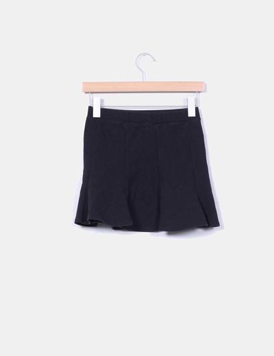 f55ac8cbd3 Zara Falda negra algodón evasé (descuento 70%) - Micolet