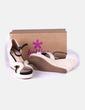 Sandales beiges compensées Oysho