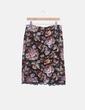 Falda midi estampada con encaje Zara