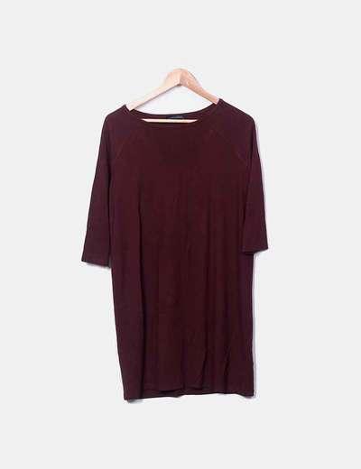 Garnet dress with long sleeves Zara
