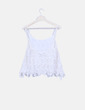 Camiseta de tirantes encaje blanco Zara