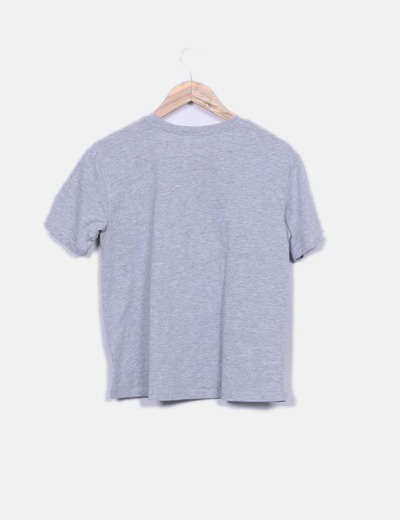 Camiseta combinada manga corta