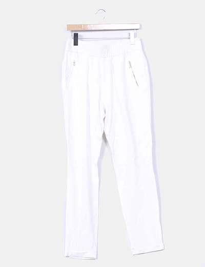 Pantalón baggy blanco roto Uterqüe