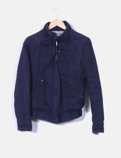 Bershka Marineblaue Jacke (Rabatt 84 %) - Micolet 35ff4095e5