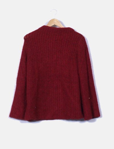Tricot rojo jaspeado Zara