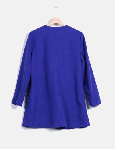 Abrigo de pano azul klein
