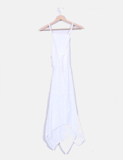 Vestido godets blanco