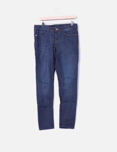Jeans denim azul oscuro Zara