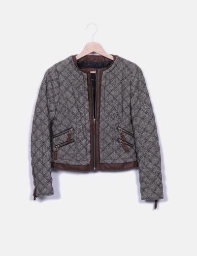 Jaqueta marrom texturizada Zara
