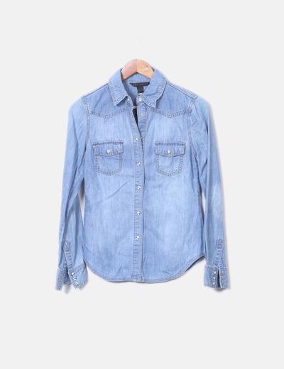Chemise en jeans clair Mango