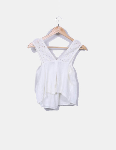 Blusa beige combinada