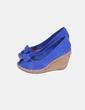 Sandalia Cuña azul Klein Pull&Bear