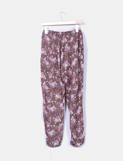Pantalon fluido floral
