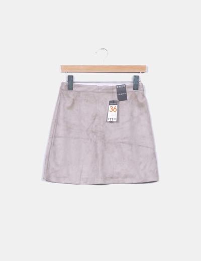Primark mini falda antelina gris descuento 46 micolet - Primark fundas movil ...