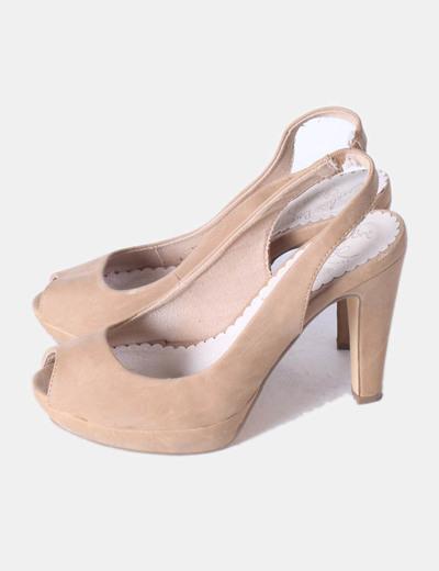 Zapatos Zapatos Toe Peet Toe Peet Destalonado Destalonado Beige qSpMGzVU