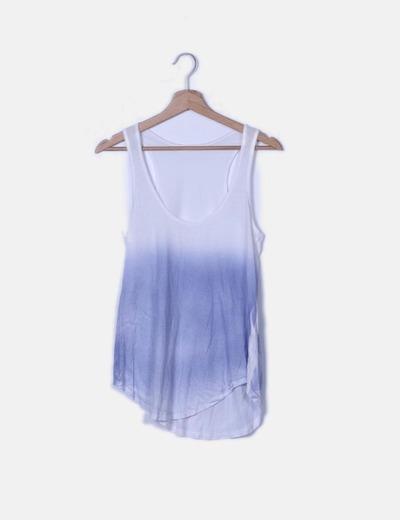 Camiseta nadadora azul y blanca