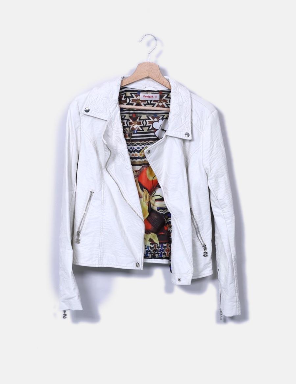 8cd3607ede5 polipiel biker baratos y online Chaquetas Mujer Abrigos de blanca bordada  Desigual Cazadora 5Rwxaqpa ...