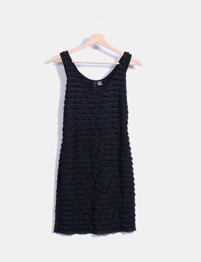 Vestido negro con flecos H&M