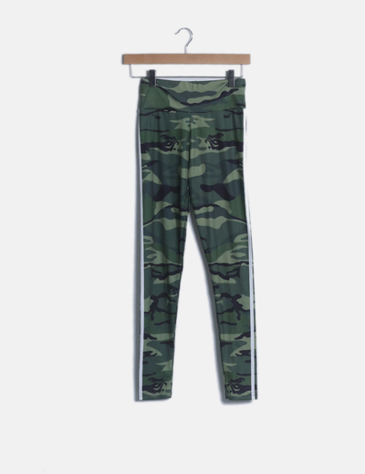 Leggings estampado camuflaje verde