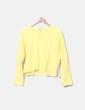 Sudadera amarilla raya Zara