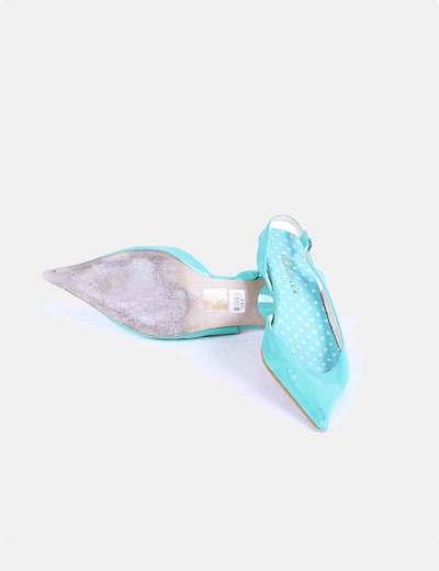 Zapatos turquesa destalonadas
