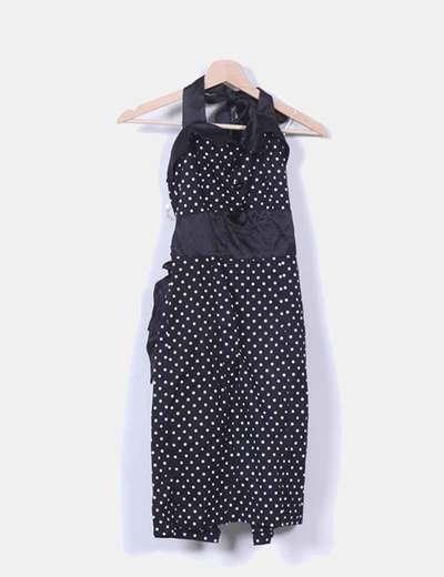 Vestido negro con topos blancos NoName