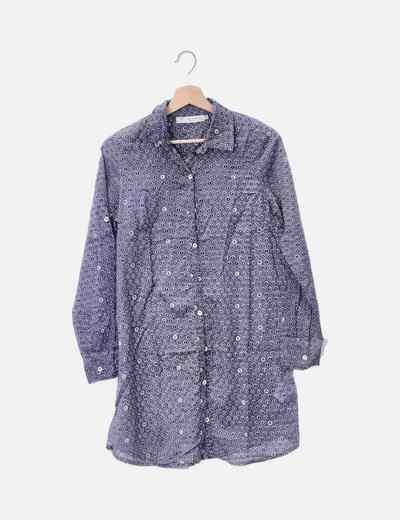 Camisa gris print letras