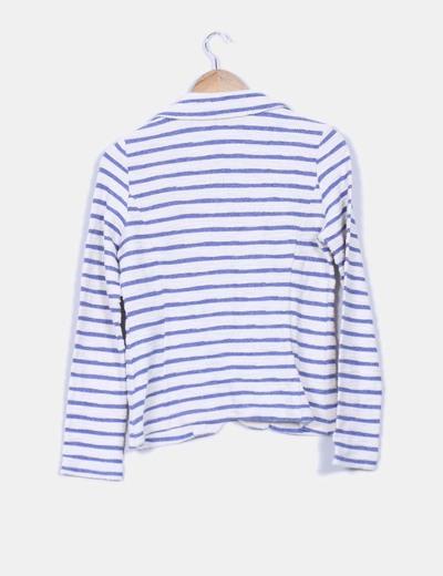 Chaqueta tweed navy