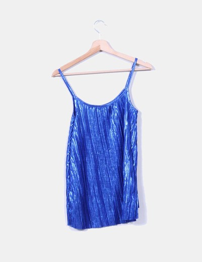 Top azul glitter de tablas