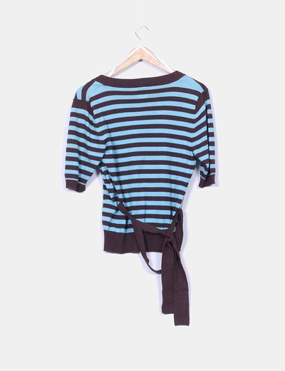 Chaqueta tricot rayas manga corta
