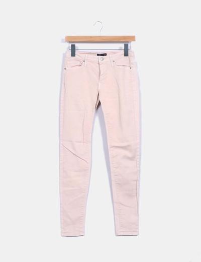 Jeans slim rose pâle Mango