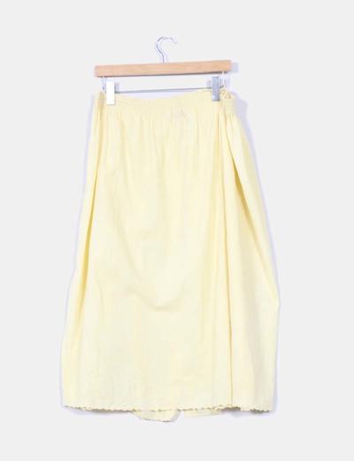 Falda midi amarilal