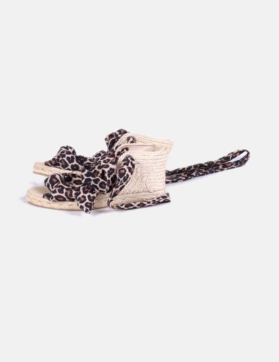 Sandales Dentelle Compensées Victoria Maria Imprimé En Animal 6v7fqx