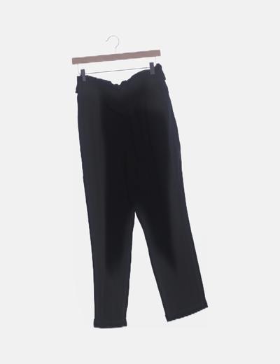 Pantalón negro paperbag