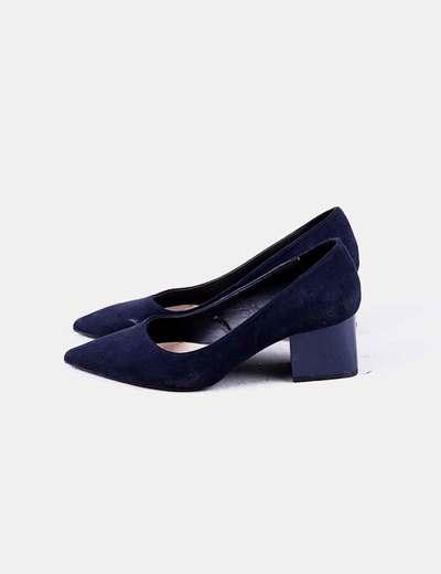 el más nuevo 687a6 28727 Zapatos de salon azul marino con tacón