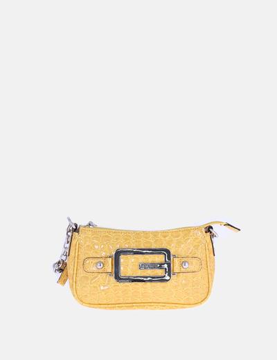 Bolso mini amarillo charol
