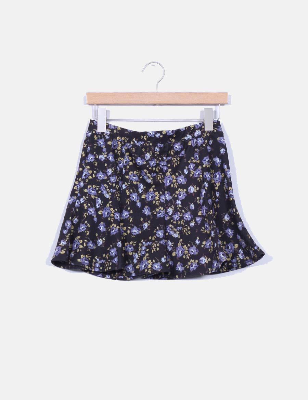 8861ee8233 falda baratas online Zara Faldas Mini evasé floral ZOqq4 ...